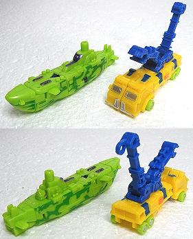 潜水艦&ダブルクレーン車